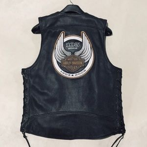 {Harley-Davidson}  105th Anniversary Leather Vest